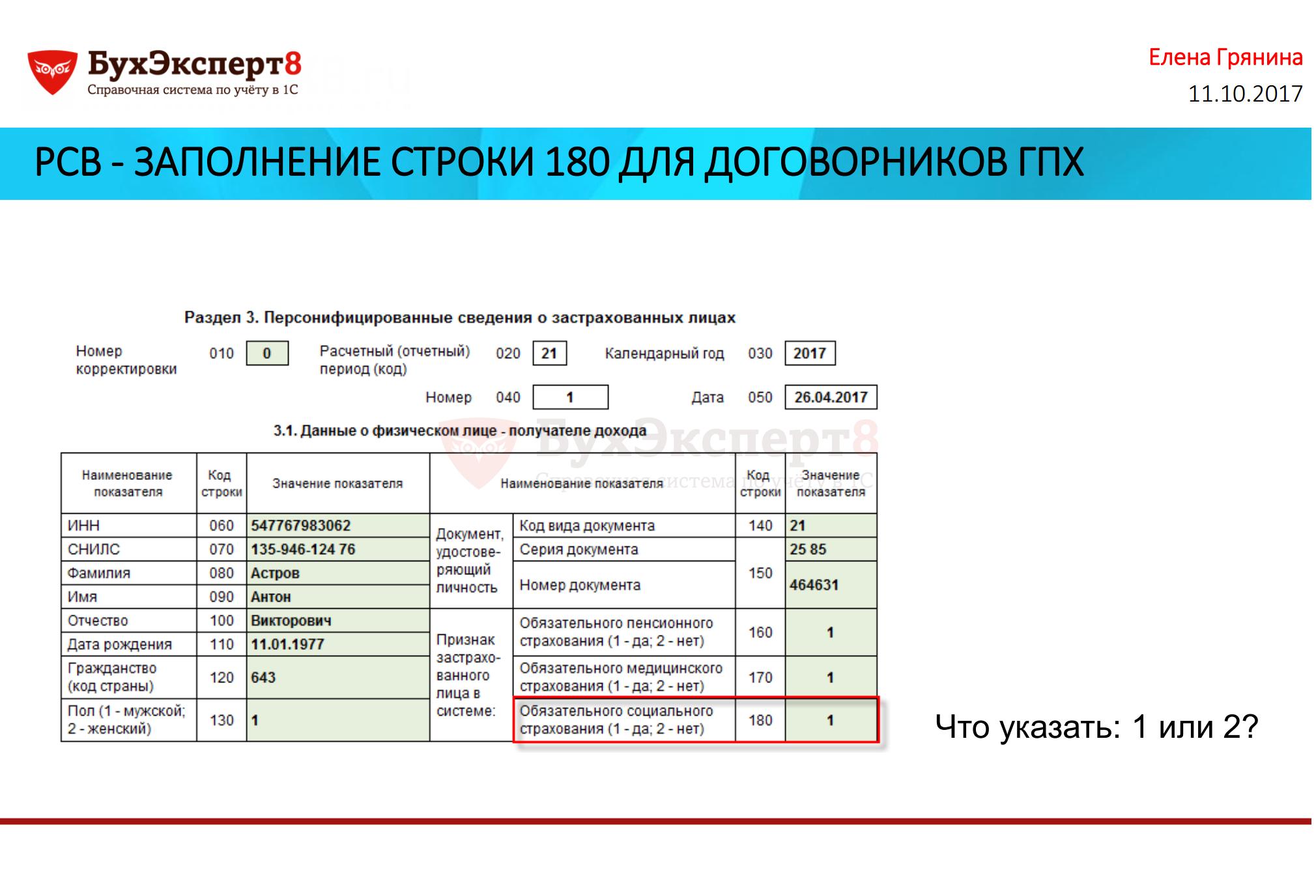 Рсв-1 показываем договорники